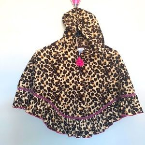 Cute leopard cape with hood 4-6X